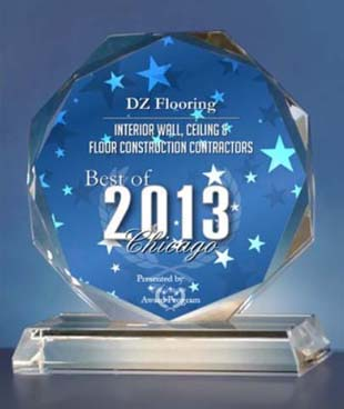 Best Chicago award for hardwood floor installation, sending and refinishing service to customers.
